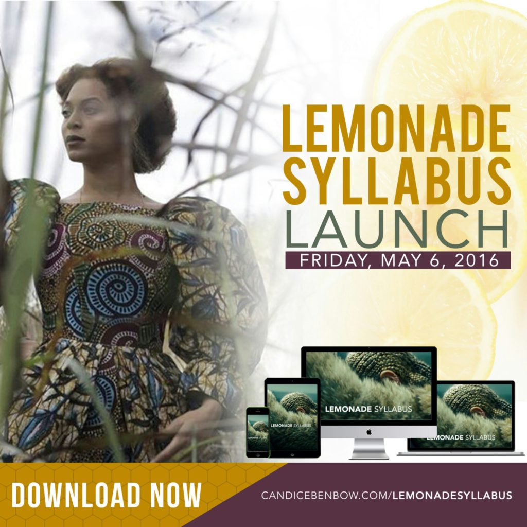 The Lemonade Syllabus is Here!